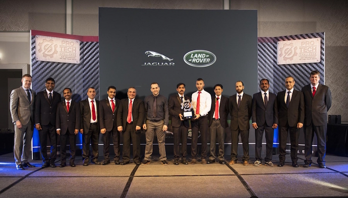 Jaguar Land Rover MENA Announces Technician of the Year 2015 Winners
