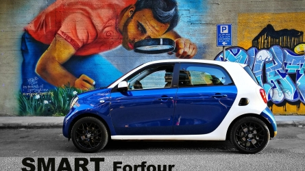 Smart forfour test drive